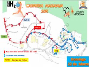 Ruta carrera naranja 10K